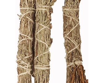 3pk Mountain Sage, Frankincense Resin Wands Bundle, Smudge Supplies, 4 Inch Sage Bundles, Sage Smudge Bundle, Smudge Supplies, Sage Wands