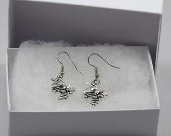 Hornet earrings, wasp earrings, yellow jacket earrings, angry hornets, bee earrings, bee jewelry, hornet jewelry, wasp jewelry, hornets