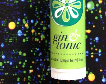Gin & Tonic lip balm - juniper, coriander and lime flavored lip balm