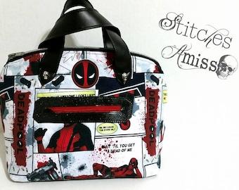 Deadpool purse - Deadpool bag - Deadpool handbag - Deadpool - Swoon Lola - Made to Order