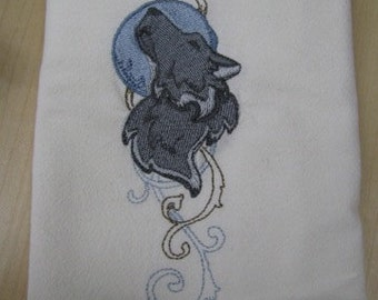 Wolf Towel - DISCOUNTED FOR FLAW