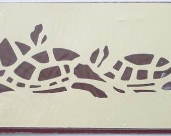 STENCIL plastic adhesive - the TURTLE pattern - REF. 1005
