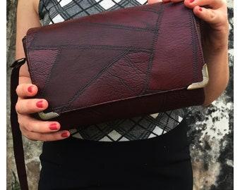 Crossbody burgundy bag -  Vegan bag -  Shoulder bag