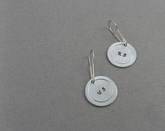 Stitch Markers - Stamped Metal With Abbrevations And Removable Locking Bulb Clips - Set of 2 Knitting Notions for Yarn Shop