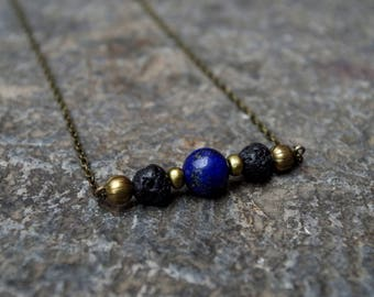 Bohemian chic necklace ~ gemstone space beads ~