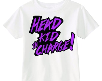 Head Kid In Charge Graphic Tee!! (White)