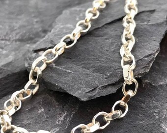 Sterling Silver Belcher chain with lobster clasp