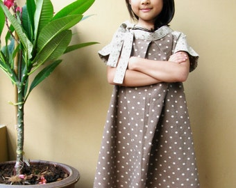 PDF Pattern - Cecelia Dress for 4 - 10 years old and tutorial.