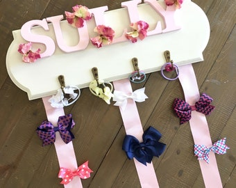 Baby Shower Gift, Hair Bow Holder, Shabby Chic Hairbow Holder, Hair Bow Board, Headband Holder, HairClip Holder, Bow Organizer