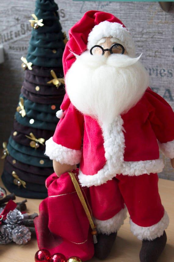 santa claus doll dirty santa male doll annalee dolls stuffed santa doll vintage santa claus doll black santa doll 6th anniversary gift - Stuffed Santa Claus