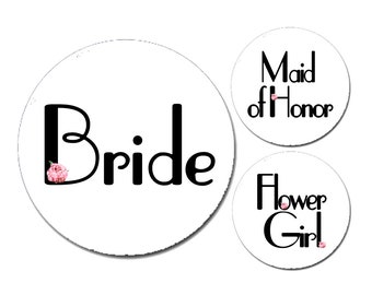 "2.25"" Art Deco Accent Bachelorette Party Buttons"