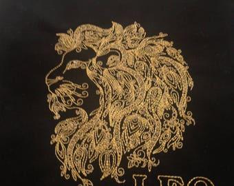 quilt block embroidered quilt block quilt square zodiac block zodiac pillow top zodiac art