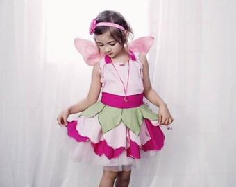 Pink Fairy Dress Party Dress Flower Girl Dress Fairy Costume Toddler Dress Baby Girl Dress Birthday Outfit Blossom Fairy Dress Up  sc 1 st  Etsy & Pink and Purple Fairy Dress Party Dress Flower Girl Dress