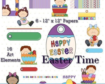 Easter Time - Digital Scrapbook Clipart Graphics
