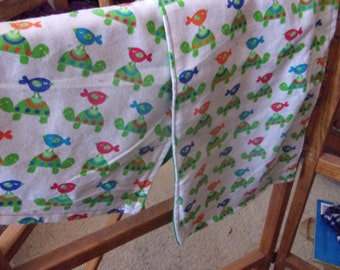 Turtle Baby Blanket Set: Blanket and Burp Pad Perfect Shower Gift