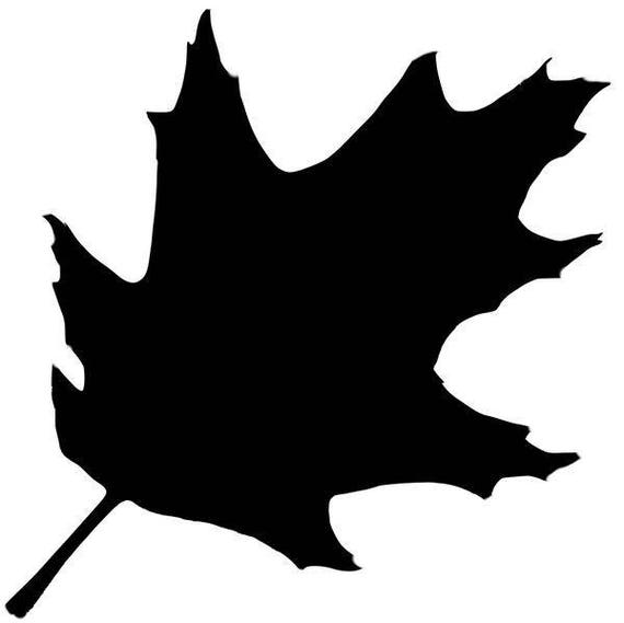 Oak Leaf Stencil Made From 4 Ply Mat Board