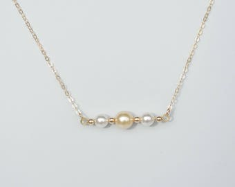 Swarovski crystal pearl and 14Kt gold filled necklace