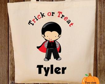 Trick or Treat Bag Halloween Tote Bag Dracula Halloween Trick or Treat Bag