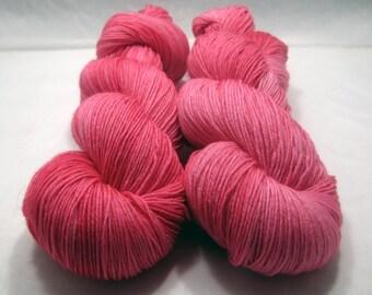 Strawberry - Hand Dyed Superwash BFL Fingering/Sock Yarn