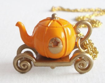Cinderella's Carriage Teapot Necklace
