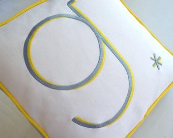 embroidered monogram pillow babies, children contemporary minimalist