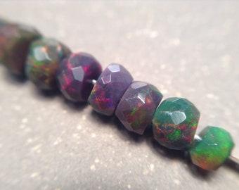 Unique faceted Ethiopian Opals Beads