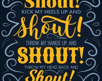 Motown Greetings Card, Shout!
