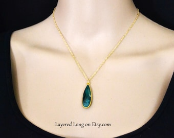Emerald Real Emerald Necklace Emerald Jewelry Emerald Pendant Necklace Womens Natural Emerald Necklace Real Emerald