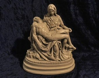 Antique Beautifully Detailed  Pieta Statue With Grotto