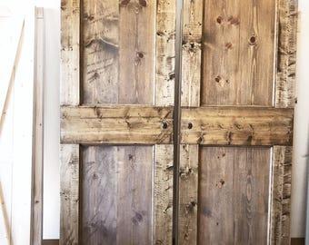 Custom Vintage Two Panel Sliding Barn Door