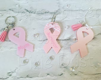 Breast Cancer Awareness bag tag/keyring.