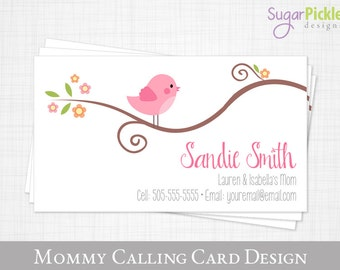 Playdate cards etsy mommy calling card business card for moms mom of cards play date card colourmoves