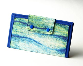 Vegan Friendly Clutch Wallet - Lines In The Sand // Photo Fabric Collection