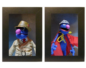 Sesame Street Framed Photo Set Grover and SuperGrover Toys