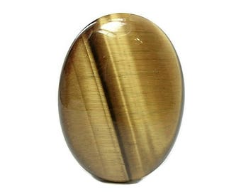 Tiger Eye Golden Chatoyant Semiprecious Gem Stone Oval Cabochon,  Polished African gemstone, DIY Jewelry, 30 x 40 mm