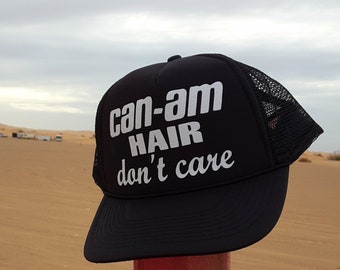 Can-Am Hair Don't Care Trucker Hat, Baseball and Trucker Hat