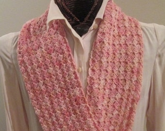 MOTHERSDAY Pink Pearls Hand-Dyed Infinity Scarf