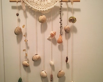 Seashell Wind Chime with citrine beads