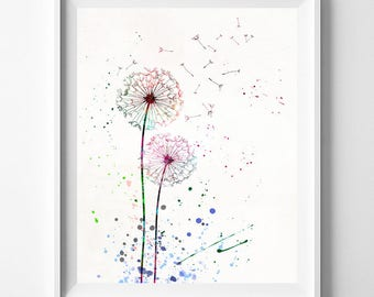 Dandelion Print, Flower Poster, Dandelion, Flower Print, Dandelion Poster, Flower Decor, Bedroom Art, Baby Decor, Type 1, Mothers Day Gift