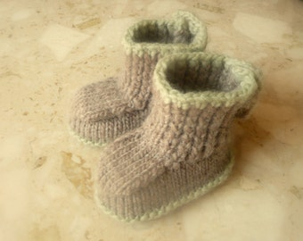 Instant DOWNLOAD Knitting PATTERN BABY Booties Seamless Button up Baby Boots