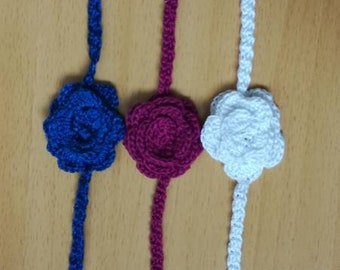 Handmade knitted corsages (: