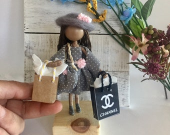 Love Shopping! This  Collection is a group of sophisticated friends that love shopping together, Spring Dress and sophisticated hat