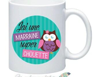 Mug, godmother gift baptism customize names date message #17