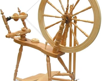 Kromski Symphony Spinning Wheel Unfinished Free Shipping With Extras Like 3 Pounds Of Merino With This Wheel