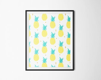 Affiche motif tropical ANANAS - à télécharger