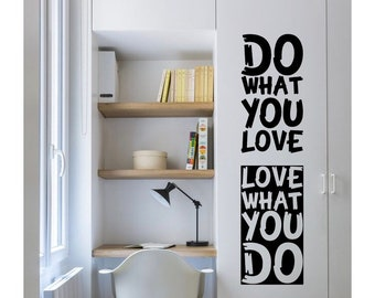 Wall Sticker, wall decal, positive words wall decal, simple wall decor, life motto well decor, words well decor