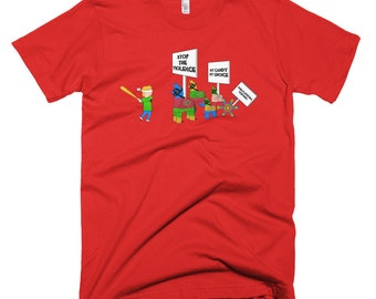 Save The Pinatas! on US Made American Apparel unisex tshirt