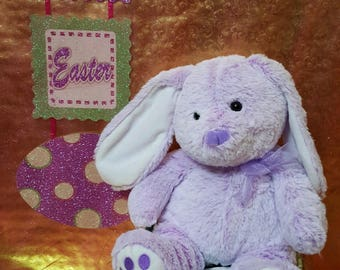 Purple Easter Bunny Embroidered Name