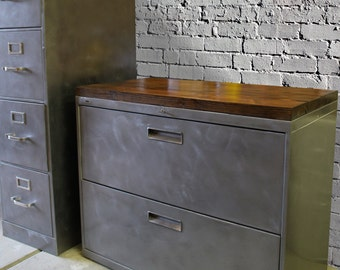 Filing cabinet etsy for Schuhschrank yellow