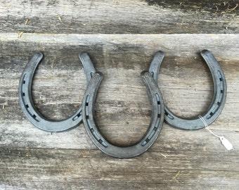 three horseshoe decorative wall hanging